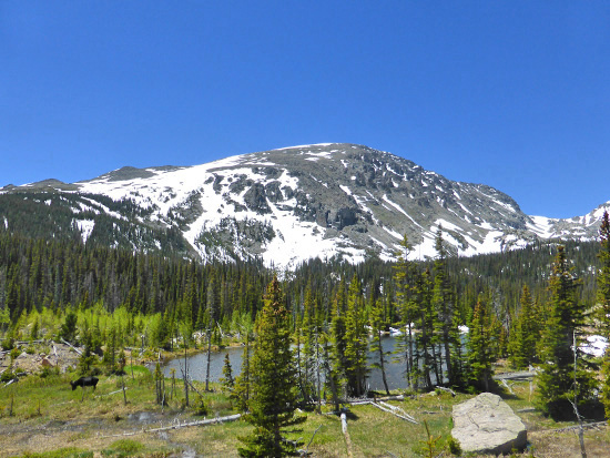 Ouzel Lake (10,010') in the Wild Basin Area of Rocky Mountain National Park